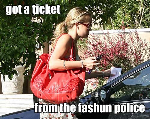 got a ticket from the fashun police